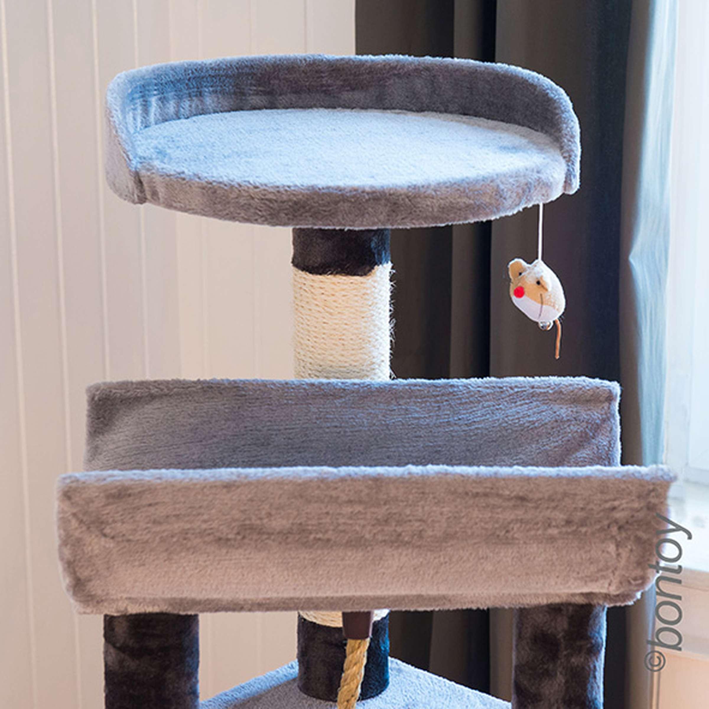 kratzbaum lou grau 145 cm mit gro er liegefl che 69 90. Black Bedroom Furniture Sets. Home Design Ideas